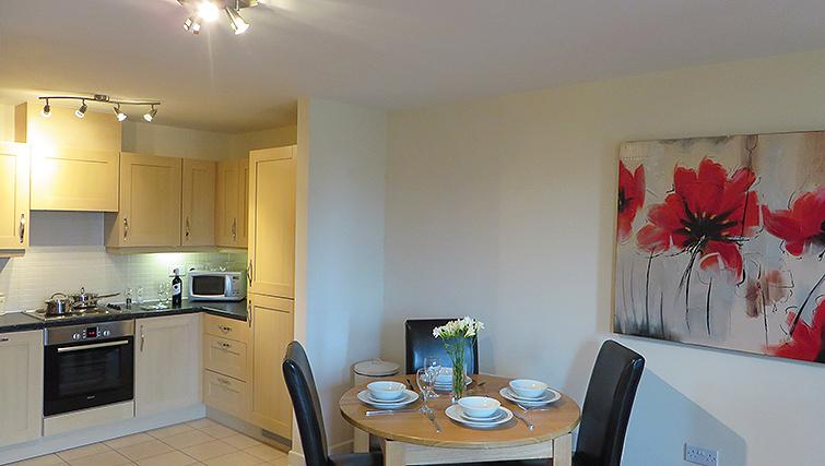 Compact kitchen in Warren Close Apartments