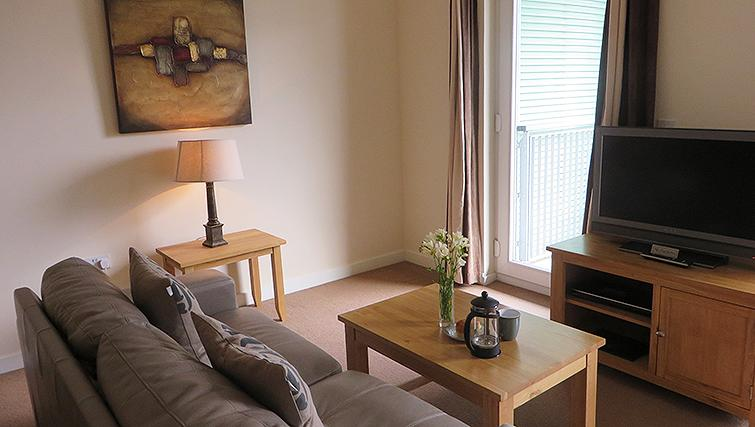 Modern living area at Warren Close Apartments