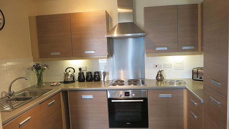 Fully equipped kitchen at Warren Close Apartments