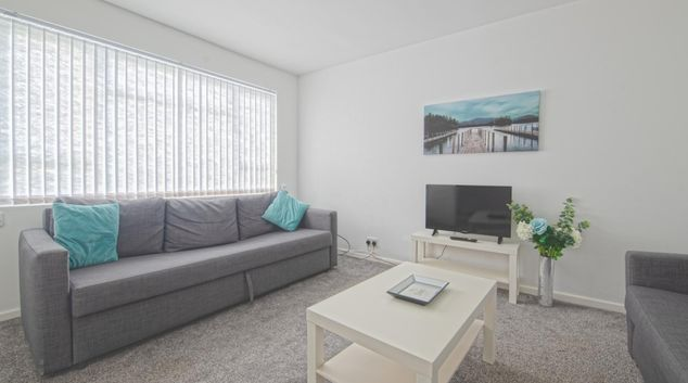 Living area at Helston House, Middleton, Leeds