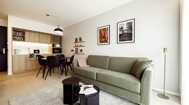 Living room at Wilde Aparthotels by Staycity Grassmarket, Centre, Edinburgh