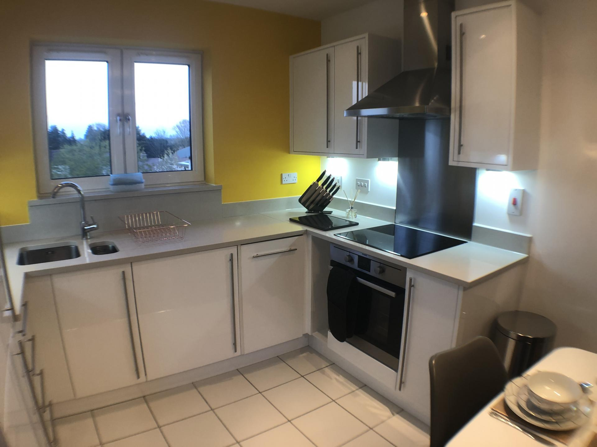 Kitchen at Mulberry Lodge Apartments, Centre, St Albans