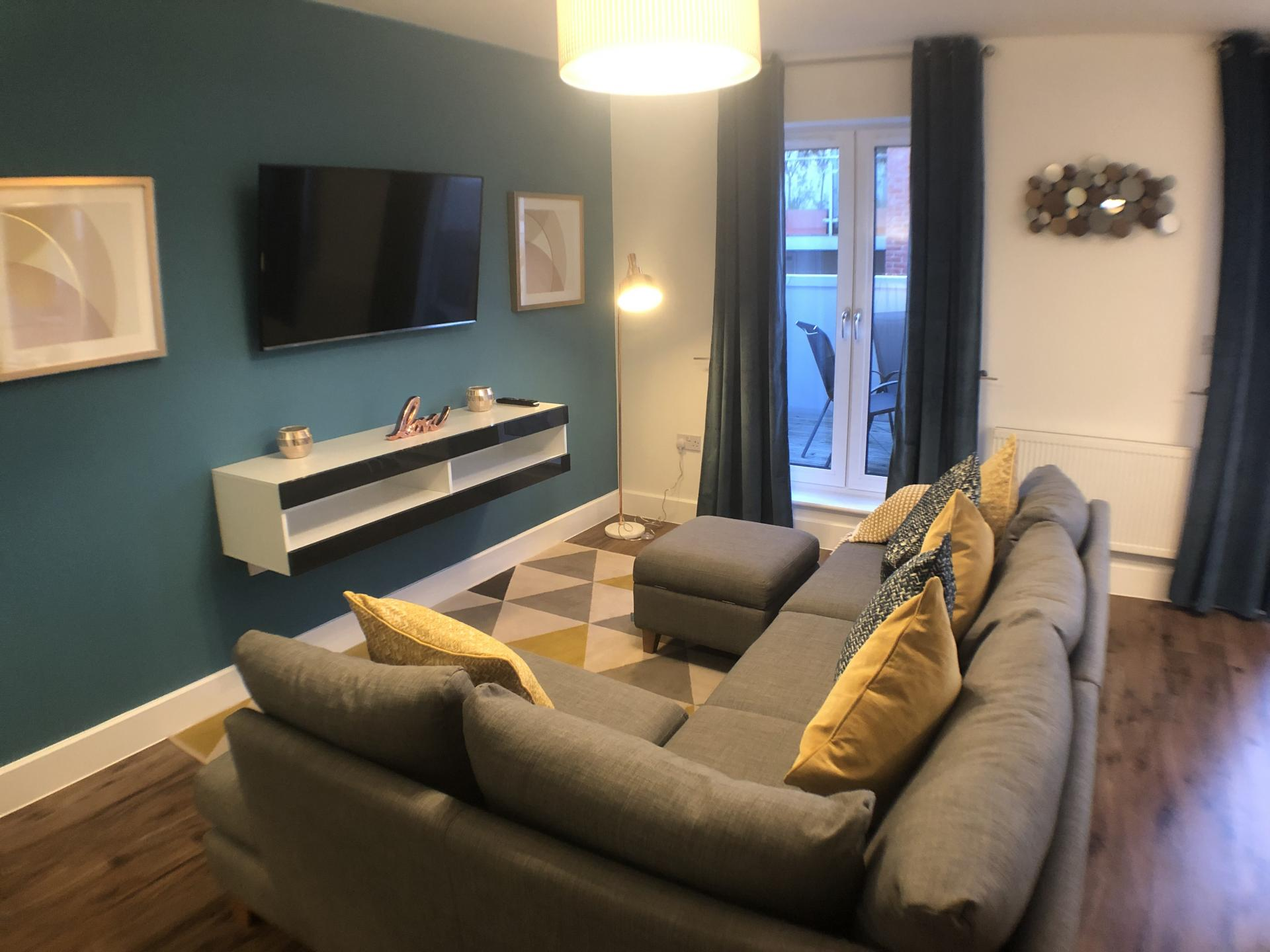 Living room at Mulberry Lodge Apartments, Centre, St Albans