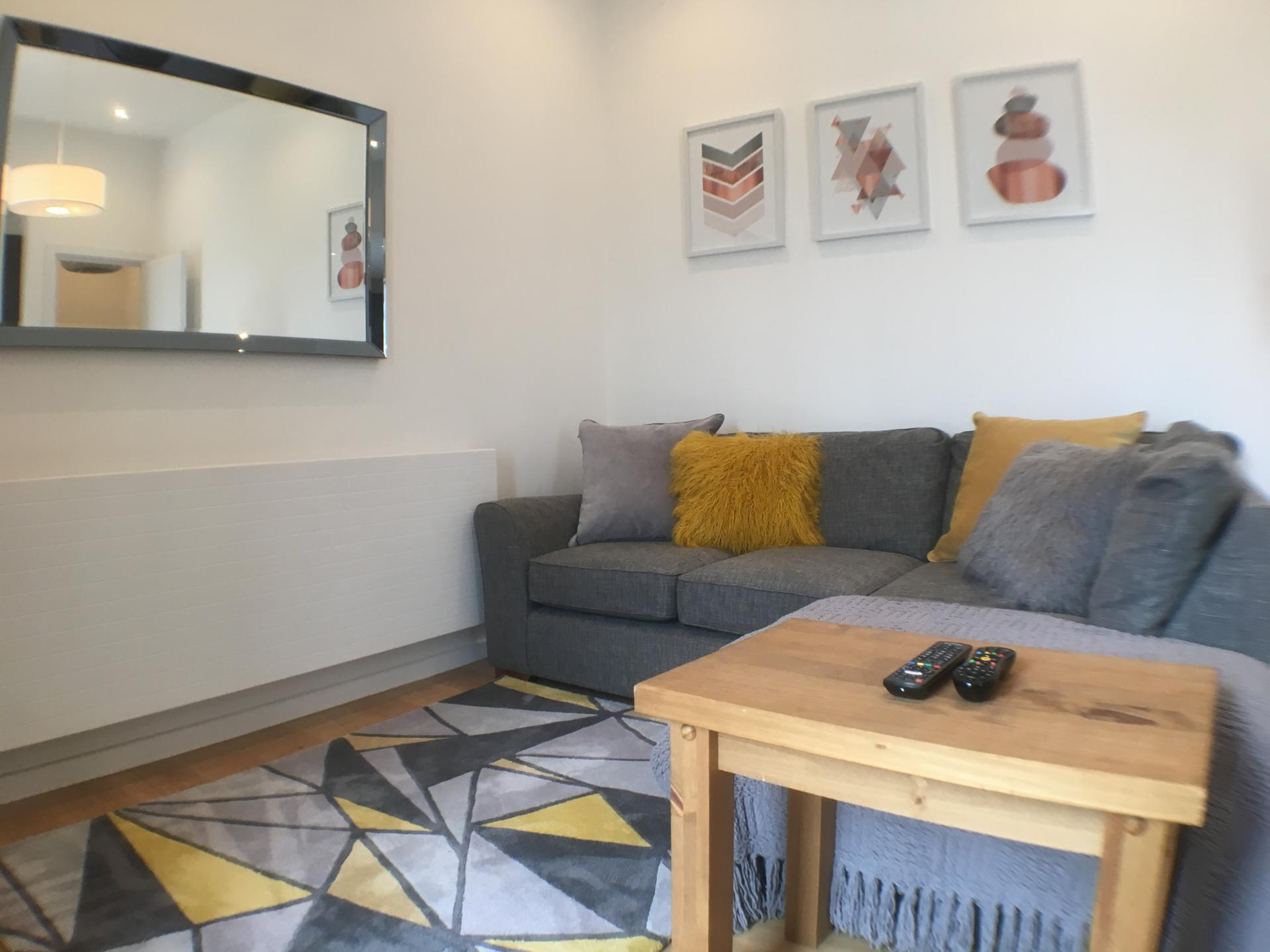 Living room at Sweet Briar Mews Apartment, Centre, St Albans