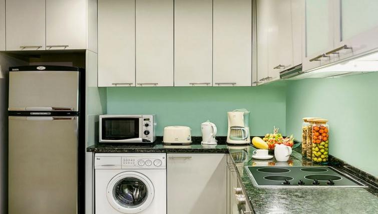 Modern kitchen in Ascott Sathorn Apartments