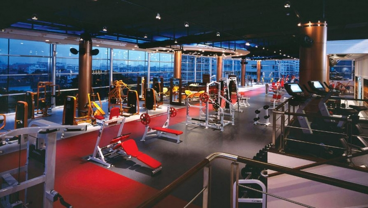Sate of the art gym in Ascott Sathorn Apartments