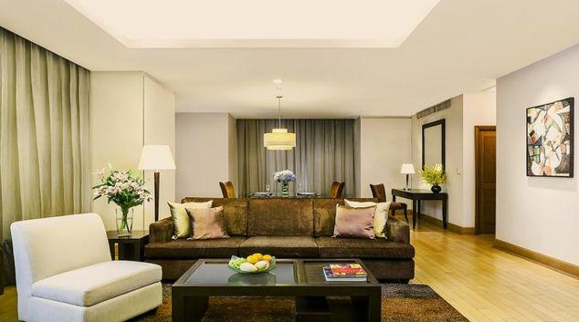 Living area at Ascott Sathorn Apartments