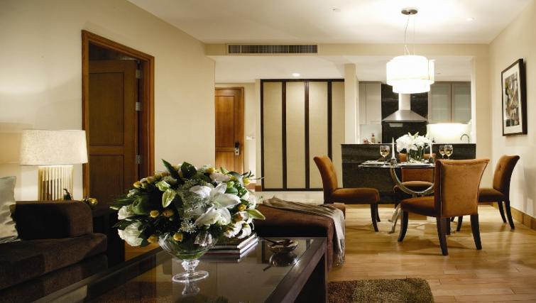 Living room at Ascott Sathorn Apartments