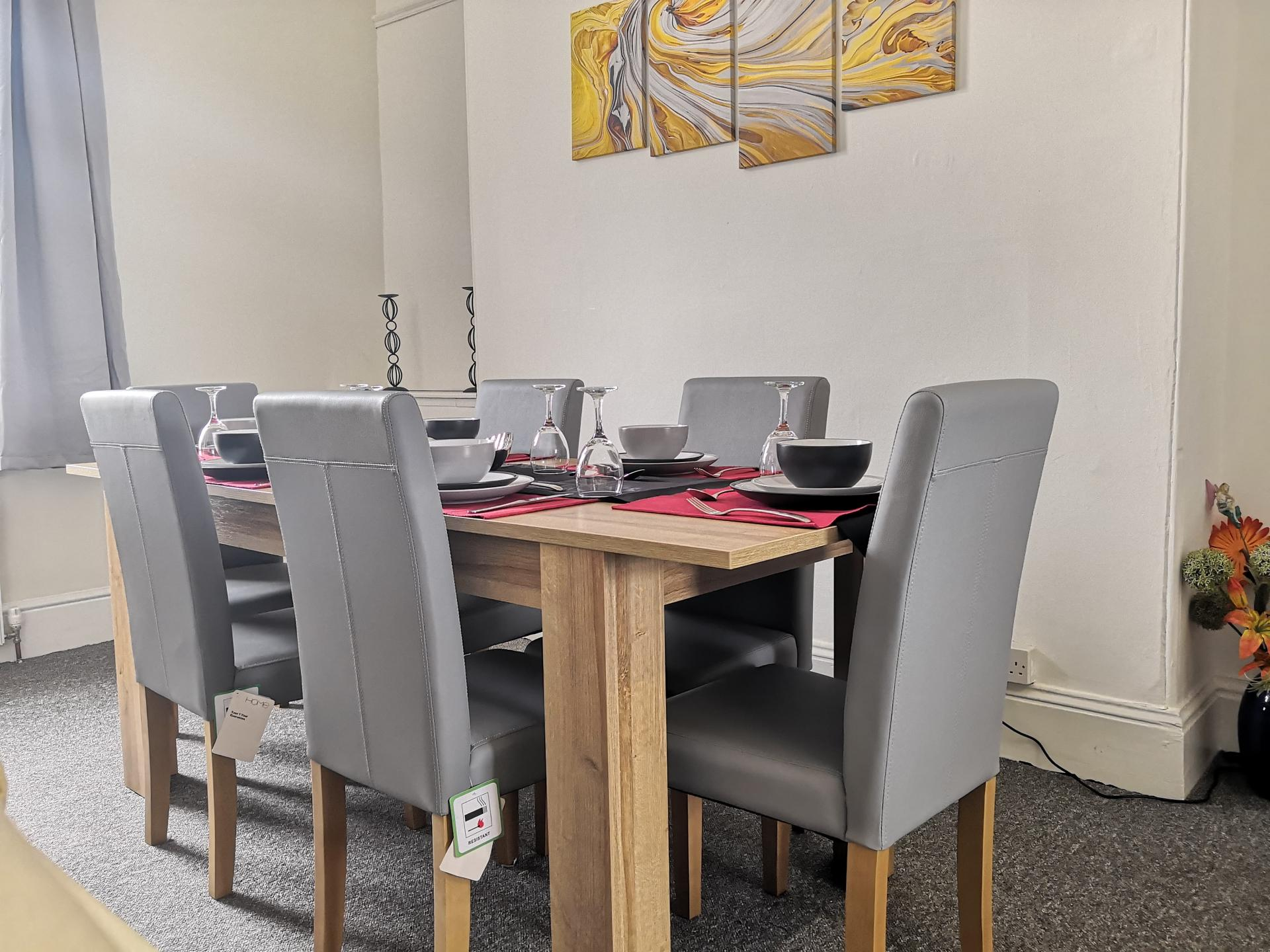Dining Area at Nicks Place Apartment, Mutley, Plymouth