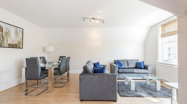 Lounge at Albury Road Apartment, Centre, Guildford