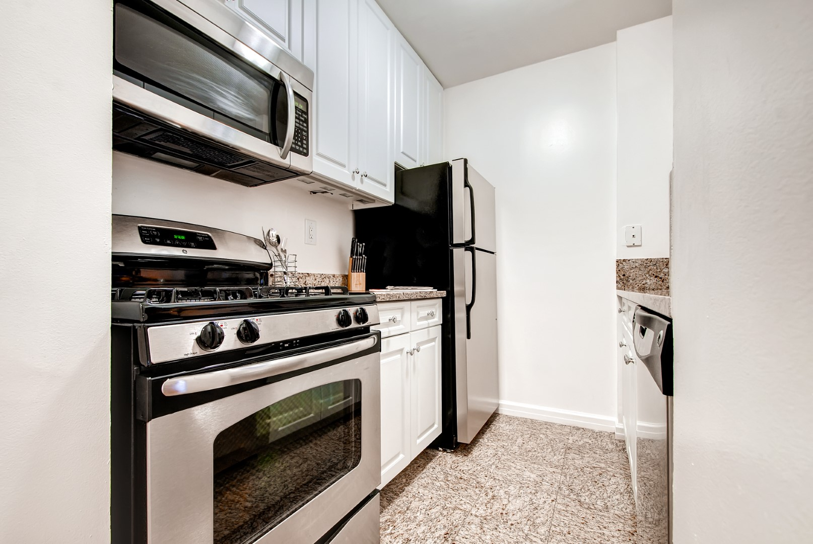 Kitchen at 56th Street Symphony House Apartments, Midtown West, New York