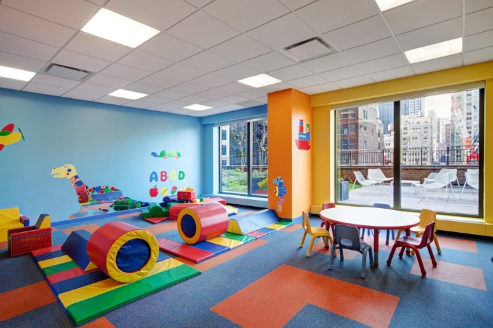 Play room at 56th Street Symphony House Apartments, Midtown West, New York