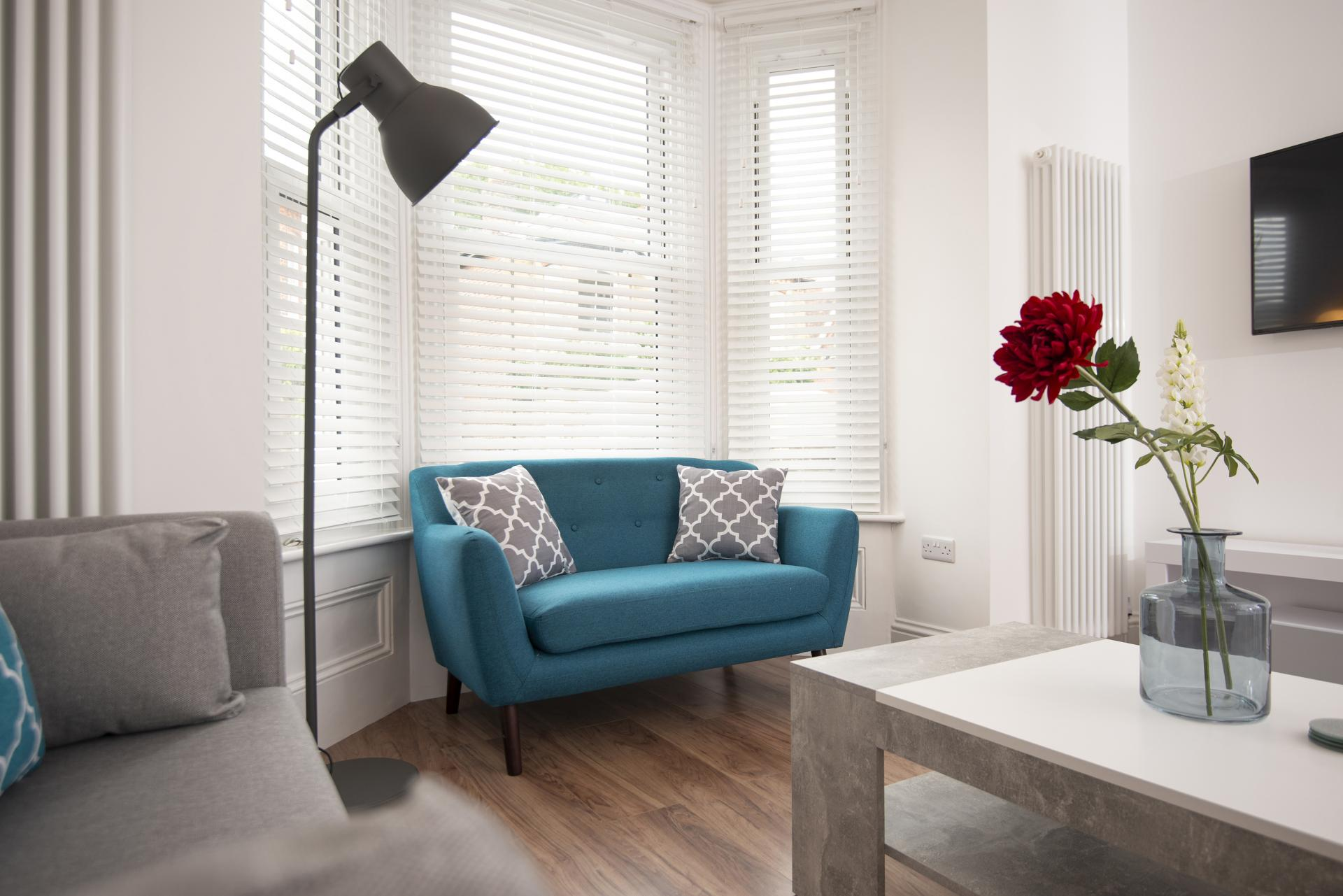 Living Room at Hereford House Apartments, Southsea, Portsmouth