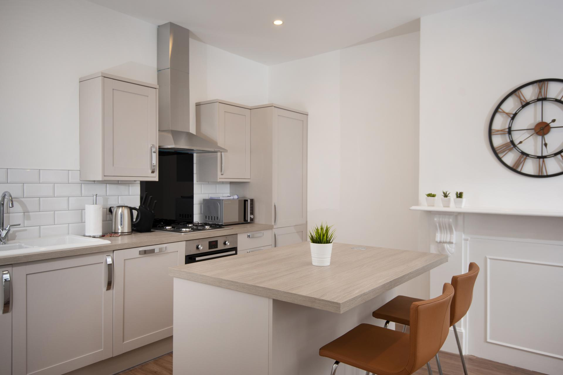 Kitchen at Hereford House Apartments, Southsea, Portsmouth