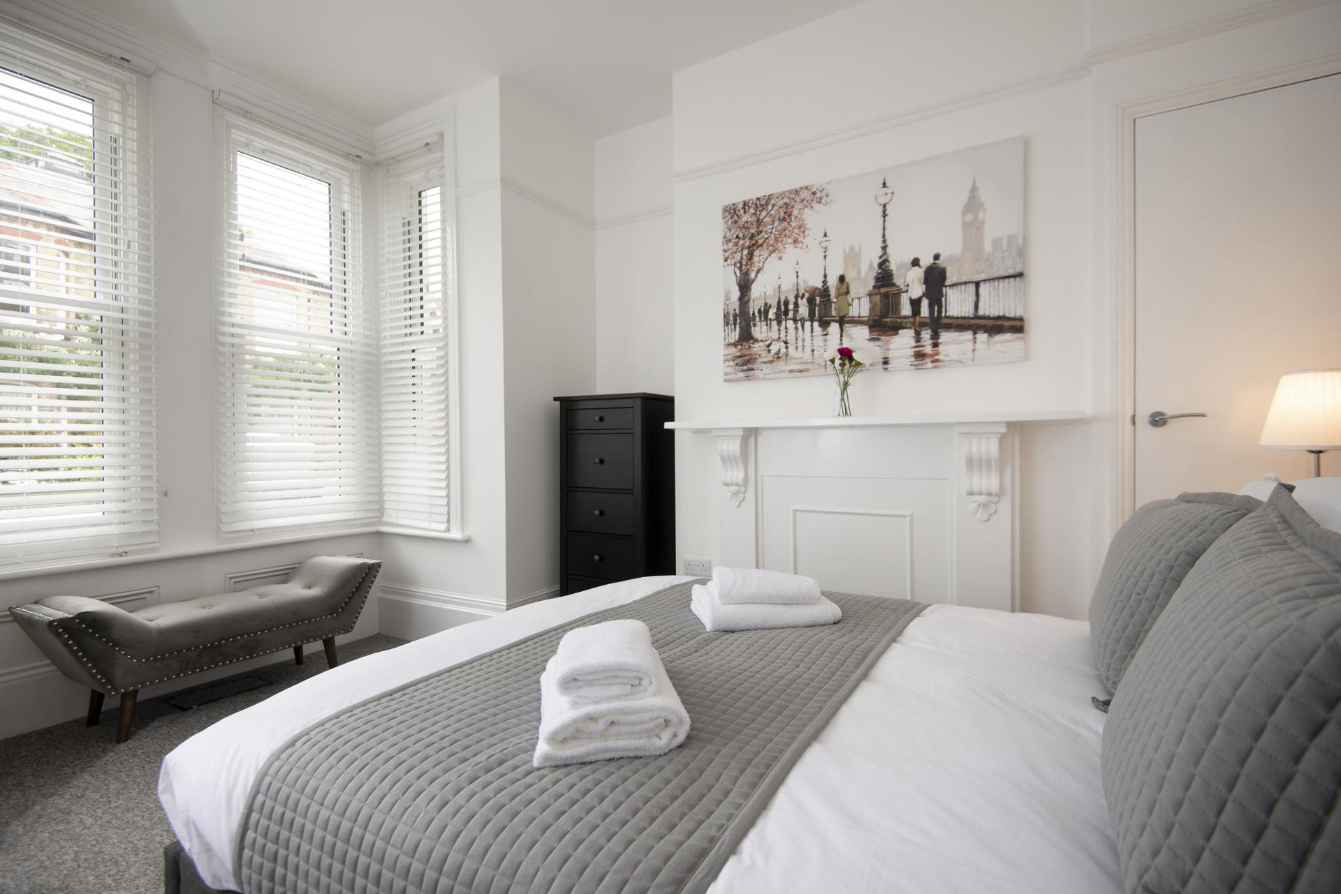 Bedroom at Hereford House Apartments, Southsea, Portsmouth