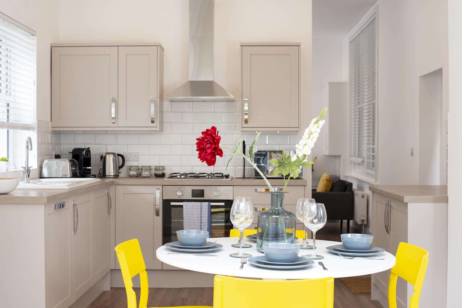 Kitchen Diner at Hereford House Apartments, Southsea, Portsmouth