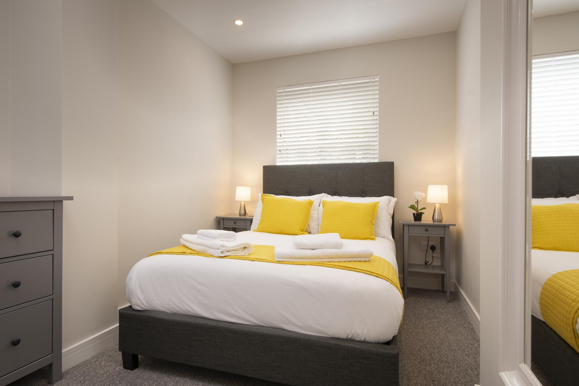 Double Bedroom at Hereford House Apartments, Southsea, Portsmouth