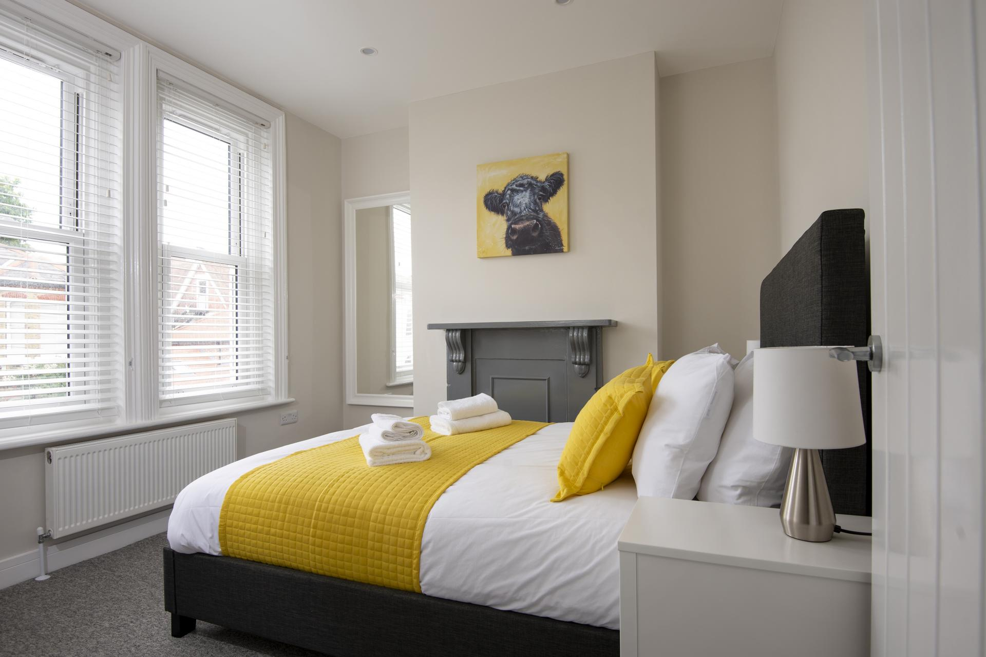 King Bedroom at Hereford House Apartments, Southsea, Portsmouth
