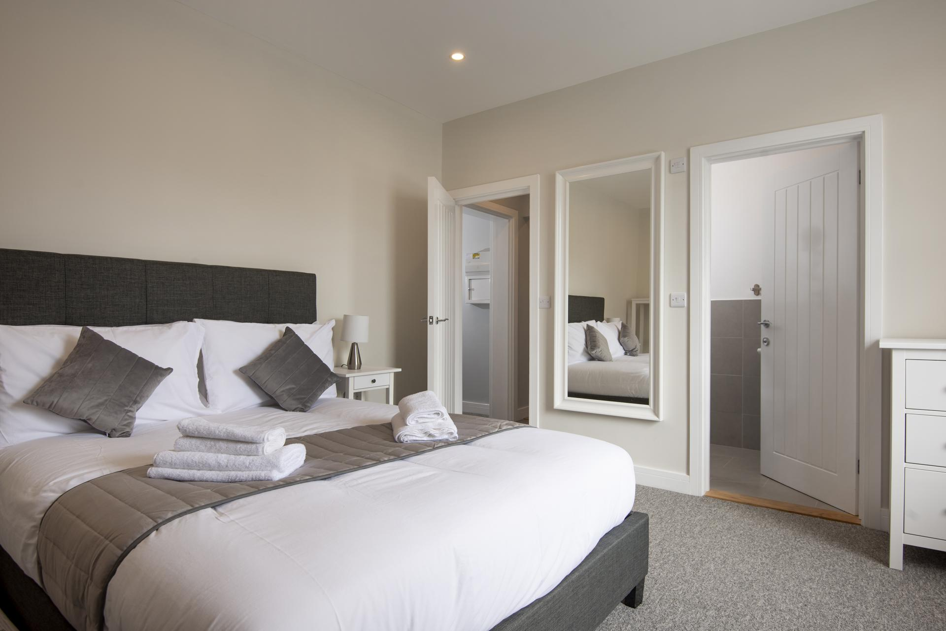 Cosy bed at Hereford House Apartments, Southsea, Portsmouth