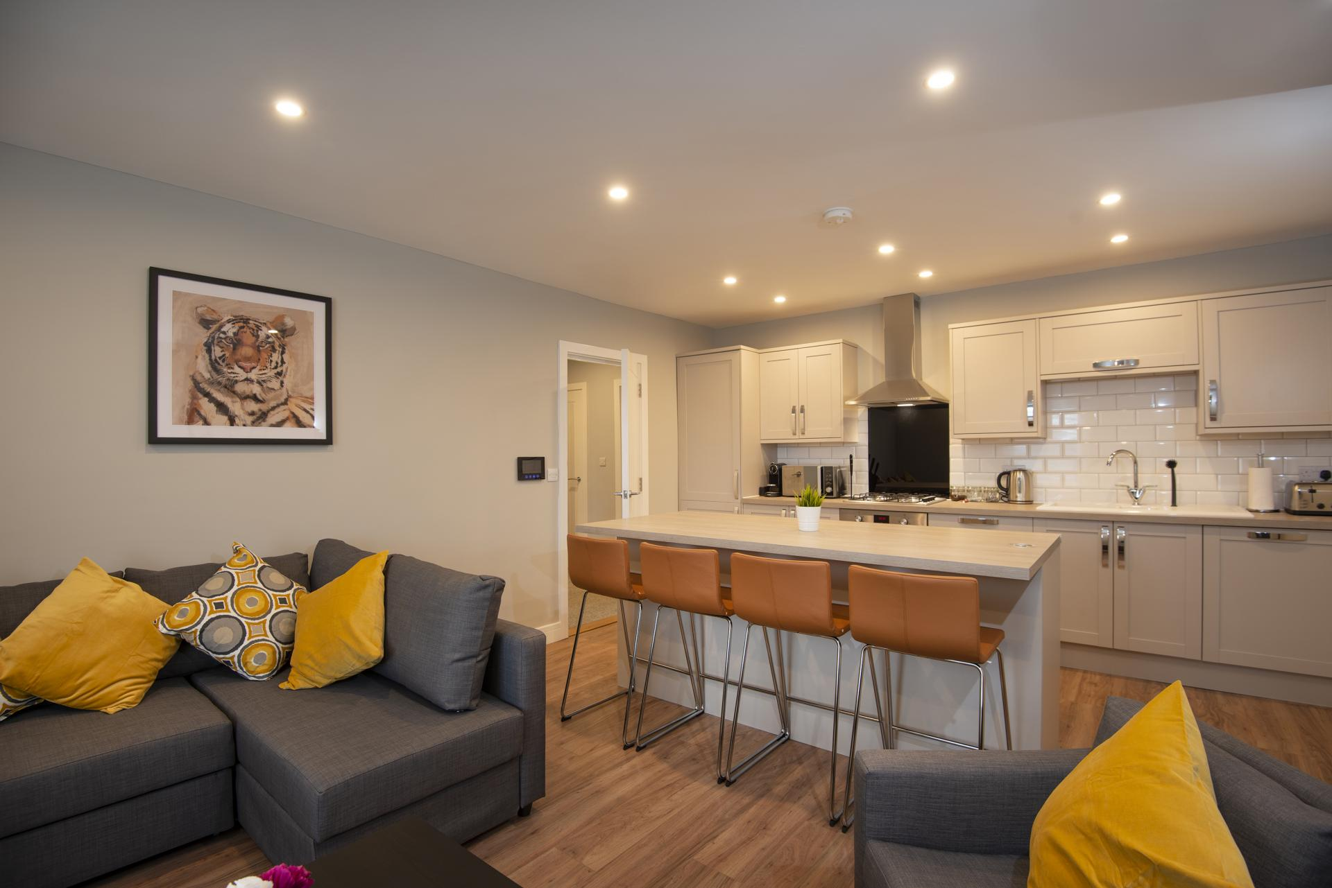 Open plan space at Hereford House Apartments, Southsea, Portsmouth