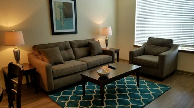 Living room at Rialto Apartments, Doctor Phillips, Orlando