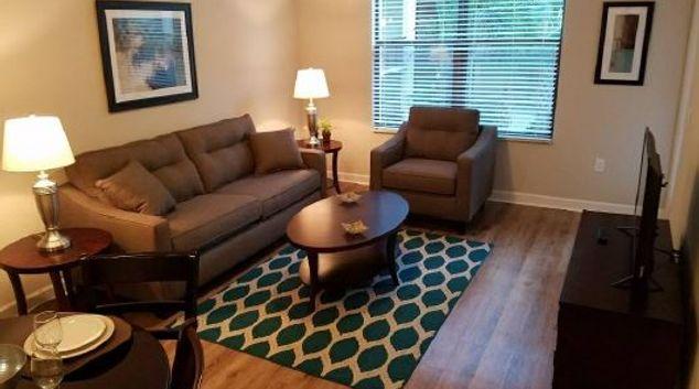 Living room at Camden Las Olas Apartment, Centre, Fort Lauderdale