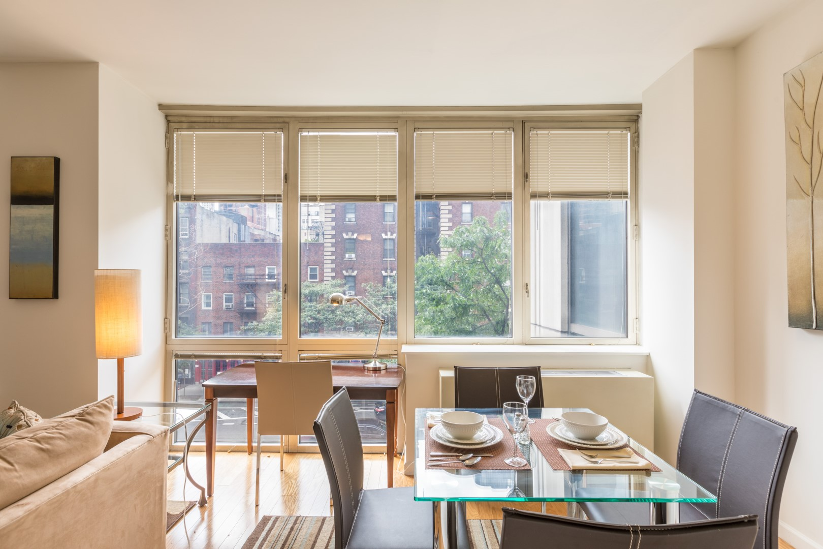 Dining area at The Pearl Apartments, Upper East Side, New York