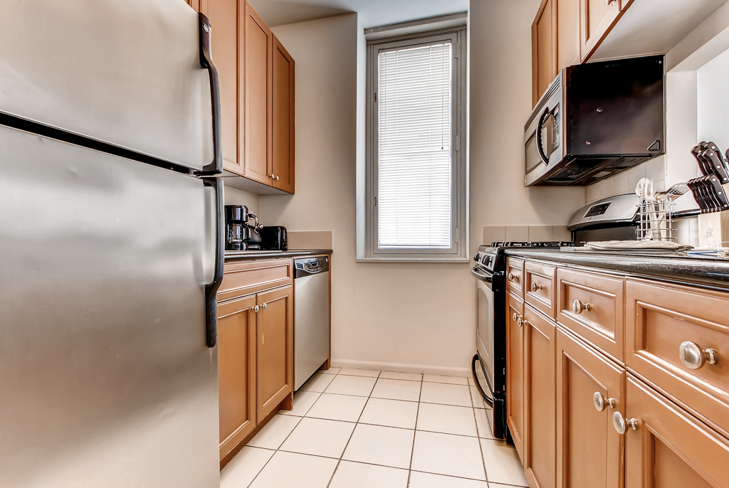 Kitchen at The Pearl Apartments, Upper East Side, New York