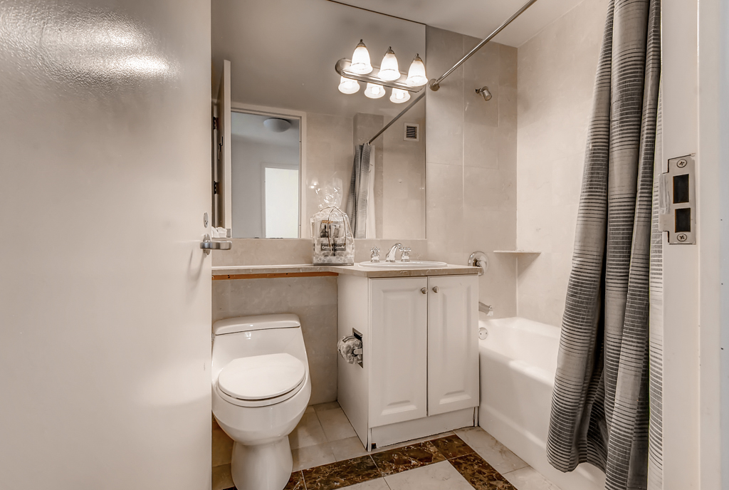 Bathroom at The Pearl Apartments, Upper East Side, New York