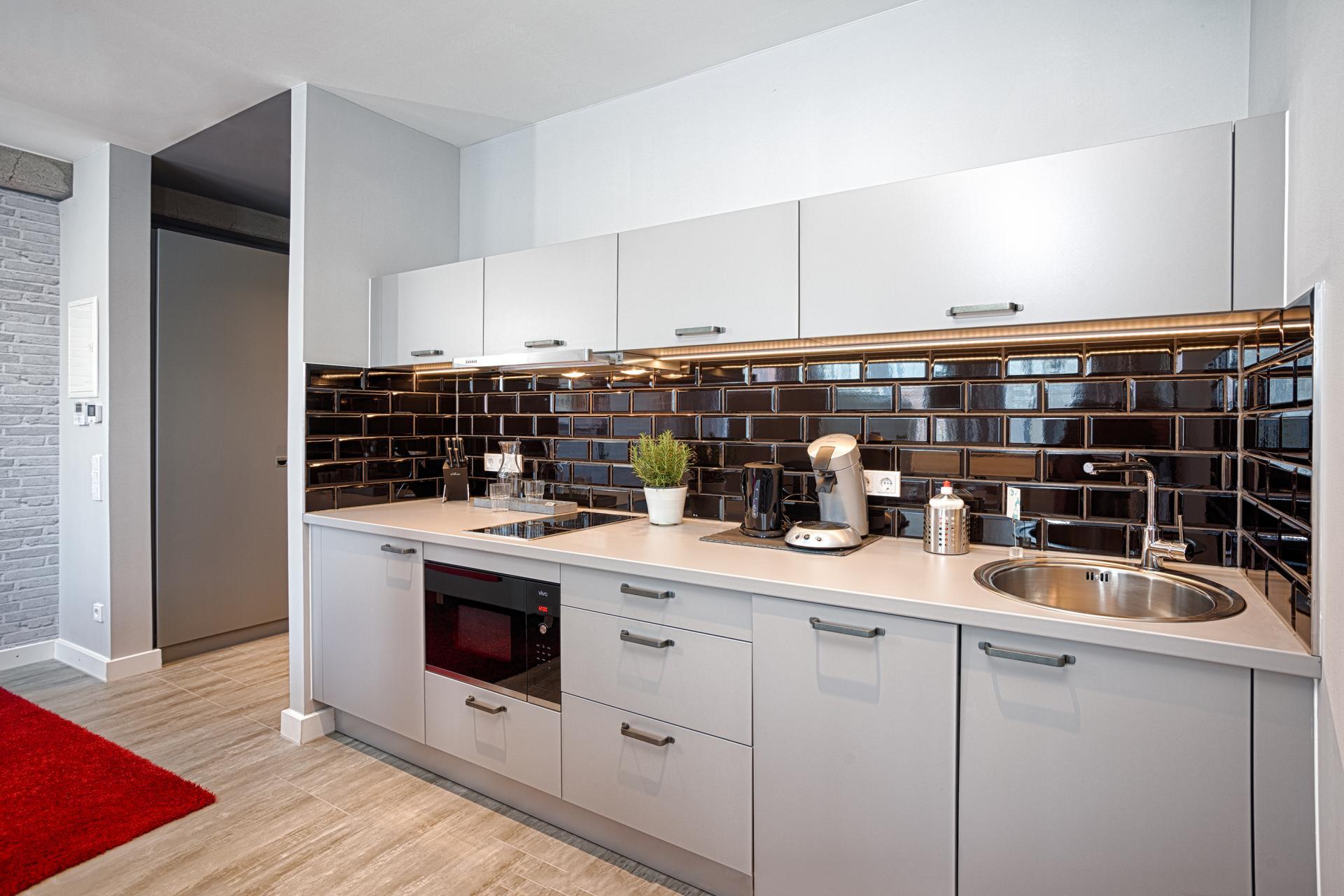 Kitchen at MLoft Apartments, Trudering-Riem, Munich