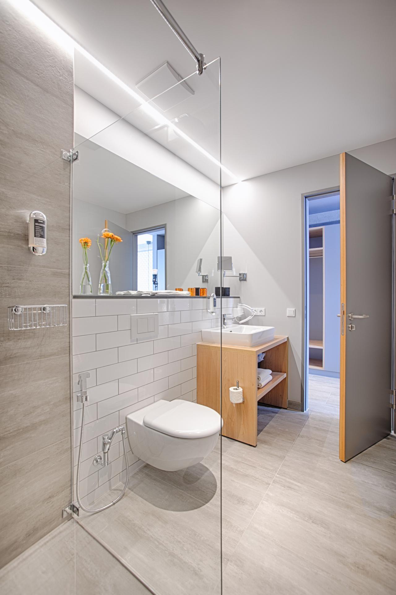 Shower at MLoft Apartments, Trudering-Riem, Munich