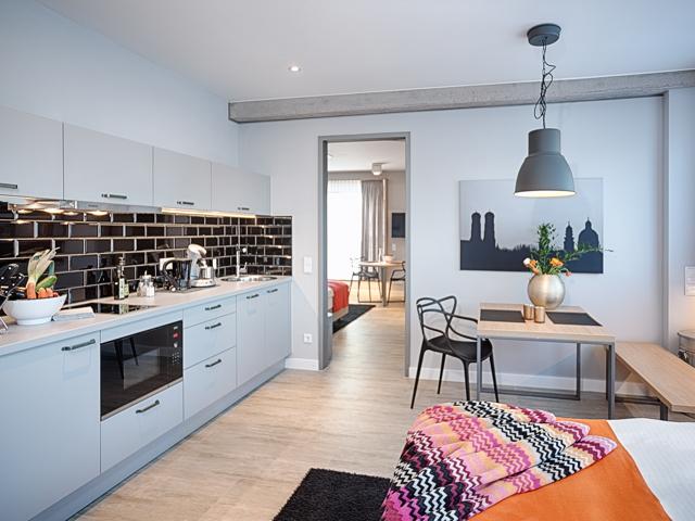 Oven at MLoft Apartments, Trudering-Riem, Munich