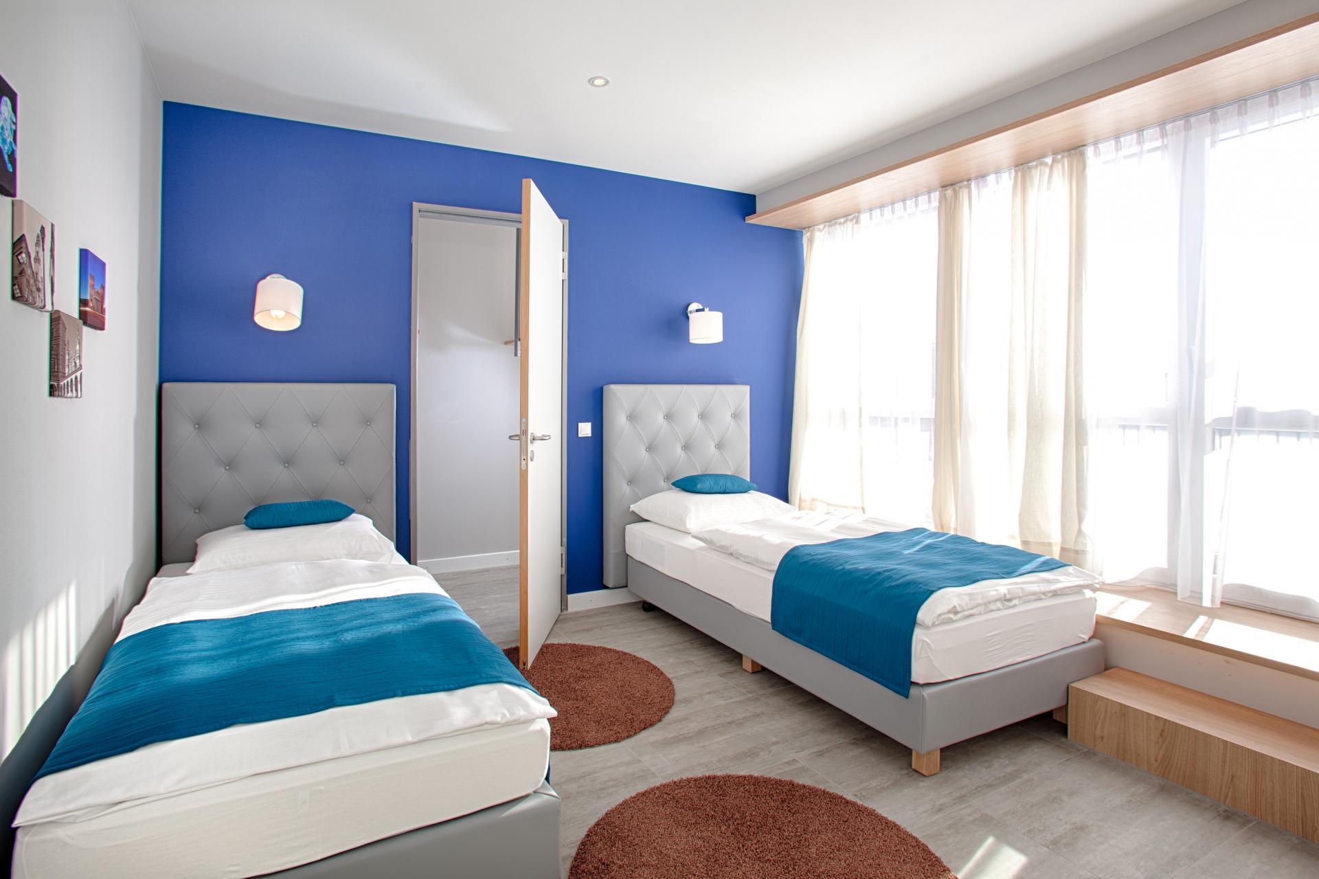 Beds at MLoft Apartments, Trudering-Riem, Munich