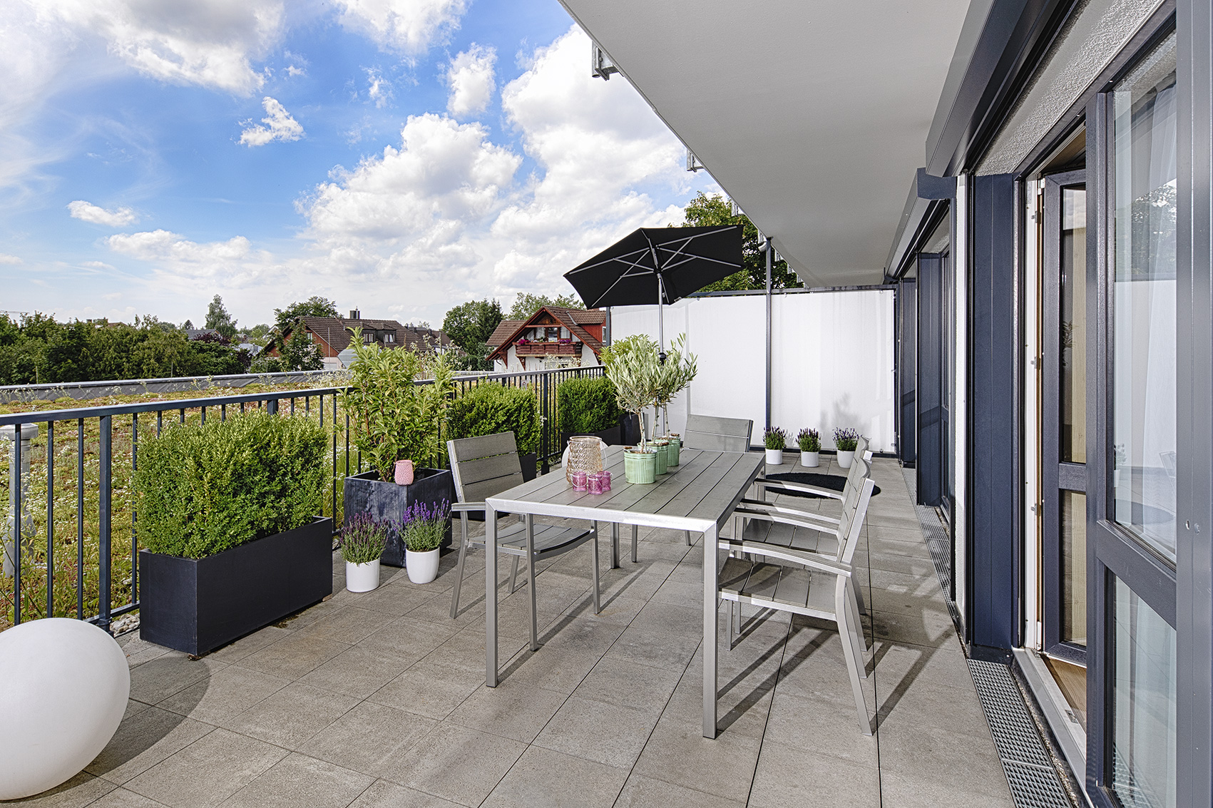 Terrace at MLoft Apartments, Trudering-Riem, Munich