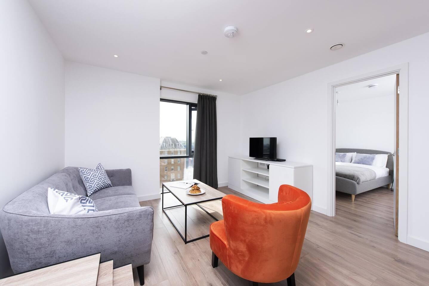 Living area at The Lansdowne Apartments, Ladywood, Birmingham