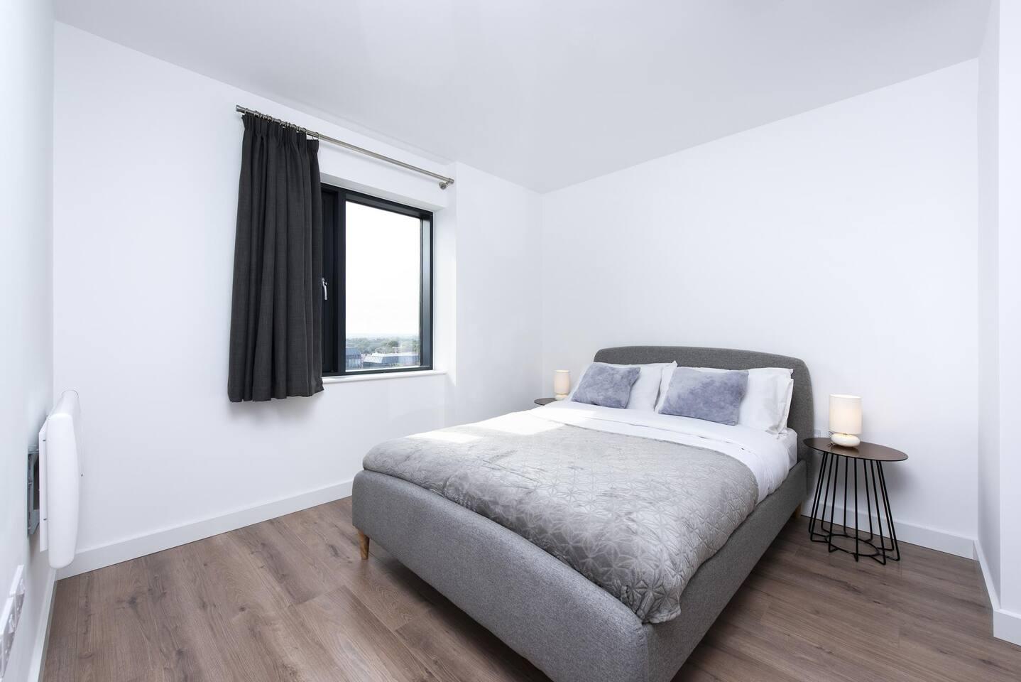 Bedroom at The Lansdowne Apartments, Ladywood, Birmingham