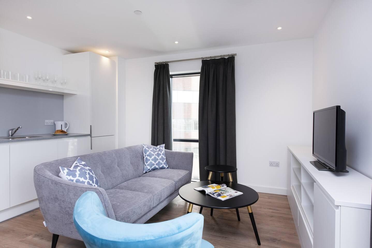 TV at The Lansdowne Apartments, Ladywood, Birmingham