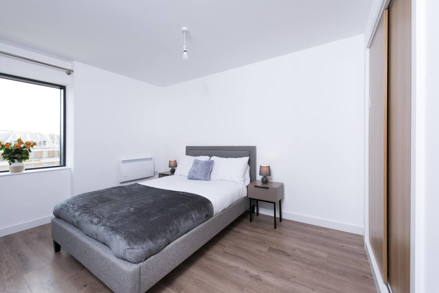Second bedroom at The Lansdowne Apartments, Ladywood, Birmingham