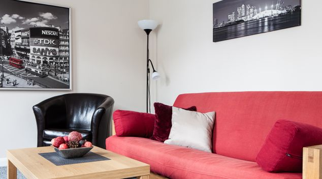 Living area at Bedford Hill Apartment, Balham, London