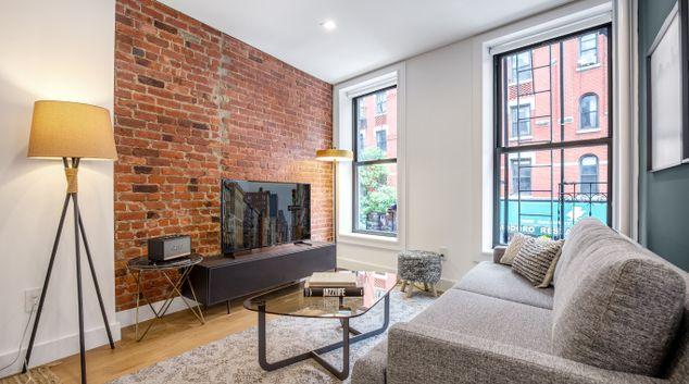 Living area at 209 Mulberry Street Apartment, Manhattan, New York
