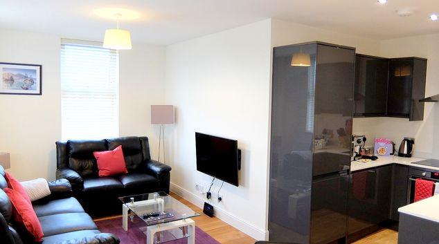 Living area at Twickenham Apartments, Twickenham, London