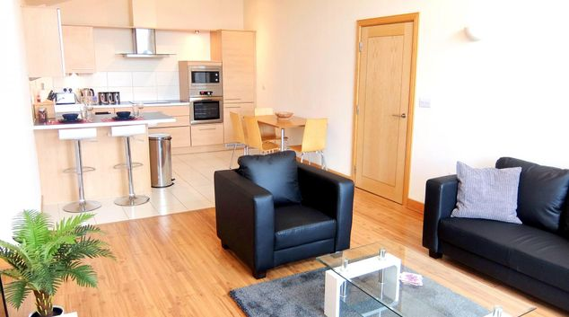 Living area at Hampton Court Serviced Apartments, Hampton Court, London