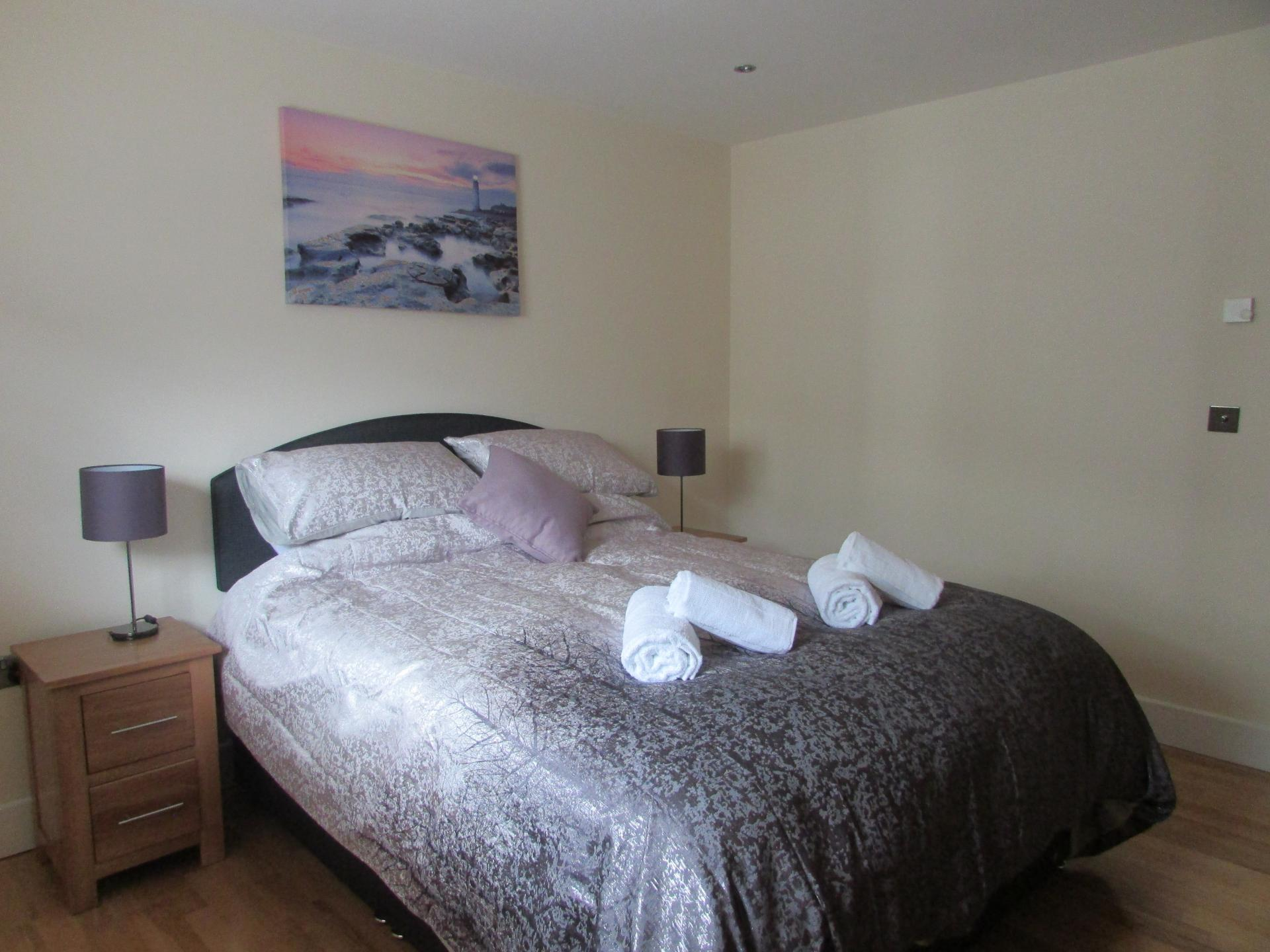 Bedroom One at William Yard Apartment, Millbay, Plymouth