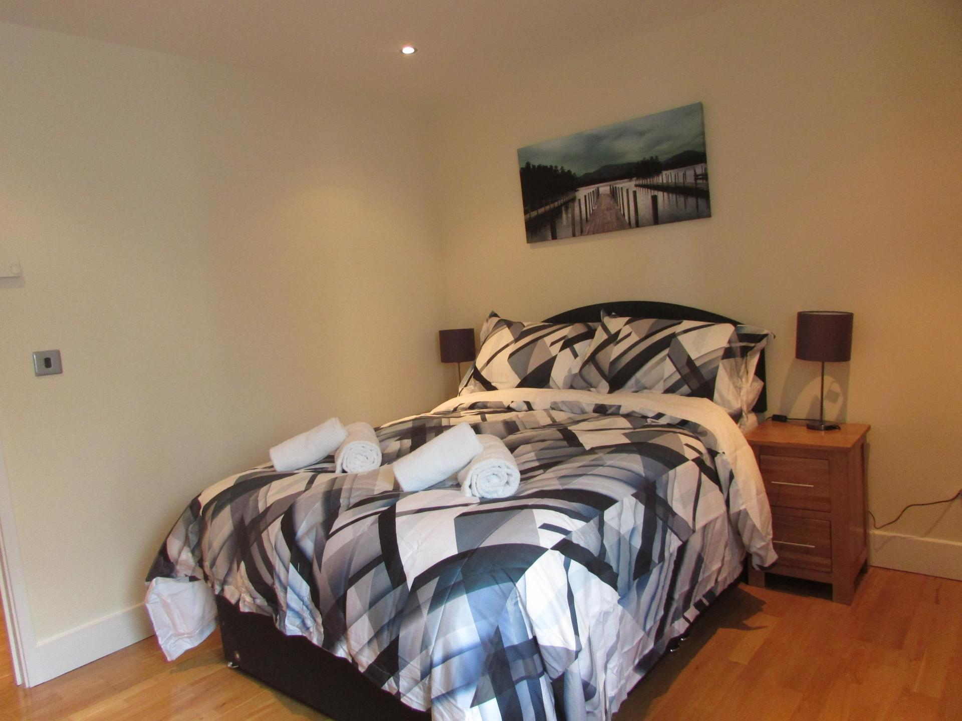 Bedroom two at William Yard Apartment, Millbay, Plymouth