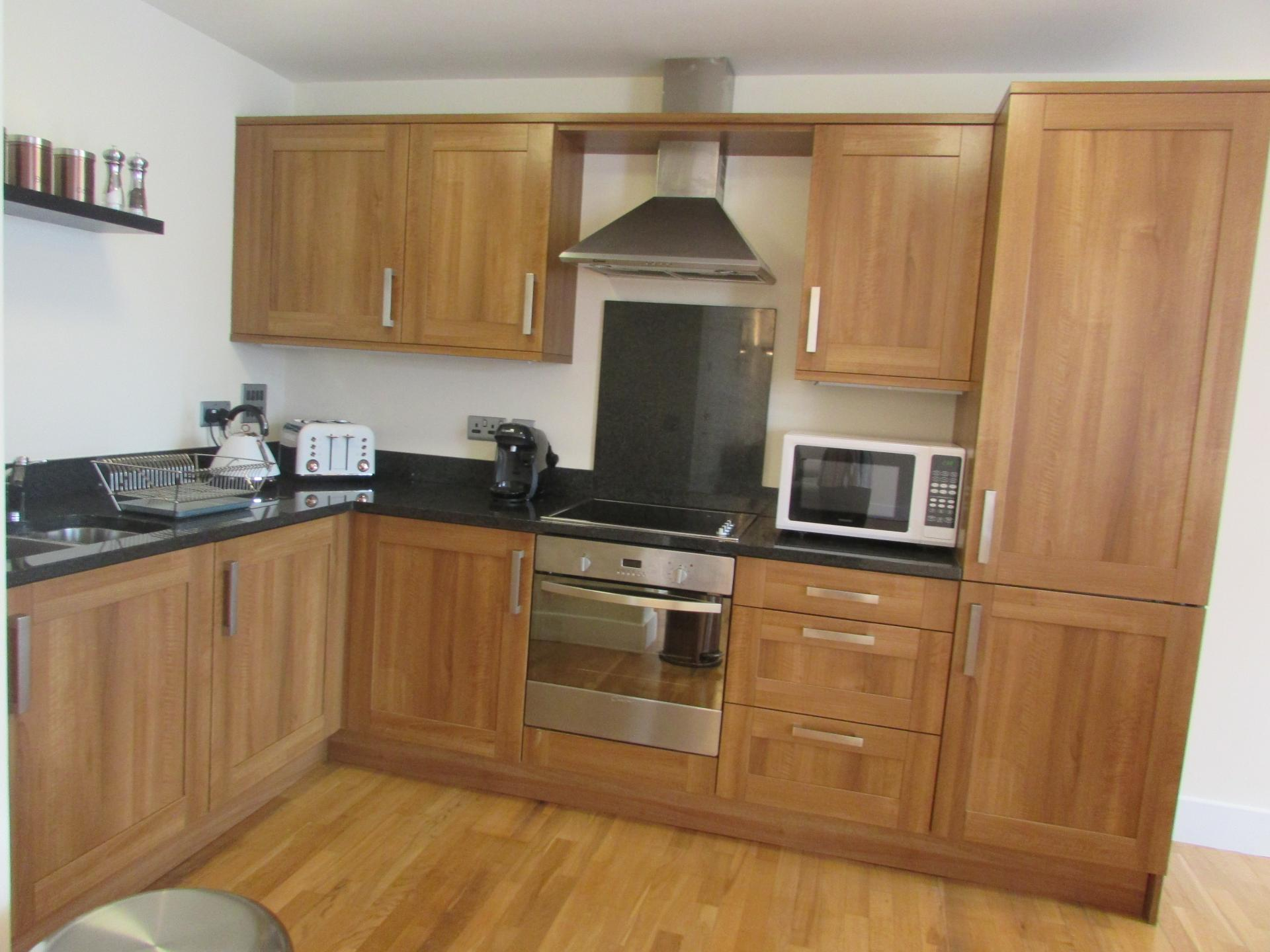 Kitchen at William Yard Apartment, Millbay, Plymouth