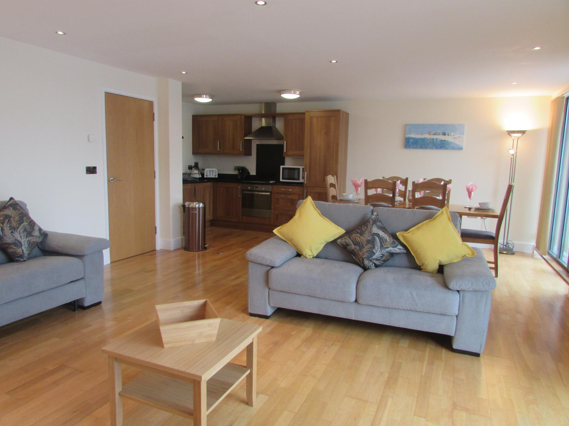 Living Room at William Yard Apartment, Millbay, Plymouth