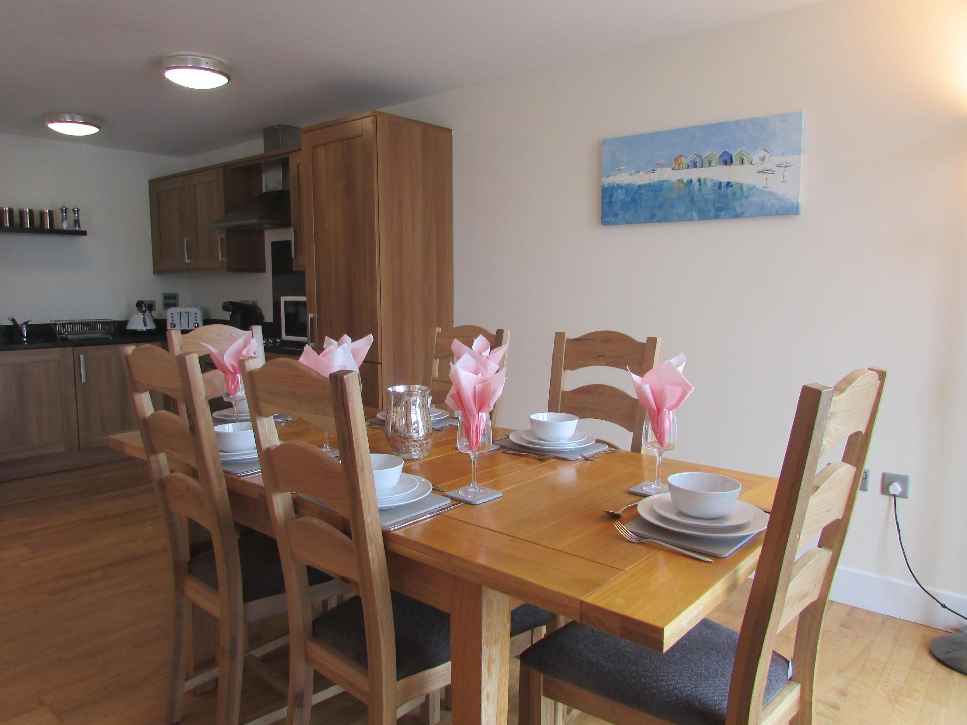 Dining Area at William Yard Apartment, Millbay, Plymouth