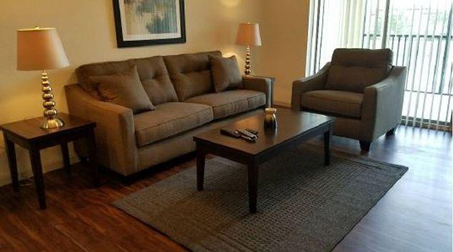 Living room at Venetian Isles Apartments, Lake Butler, Orlando