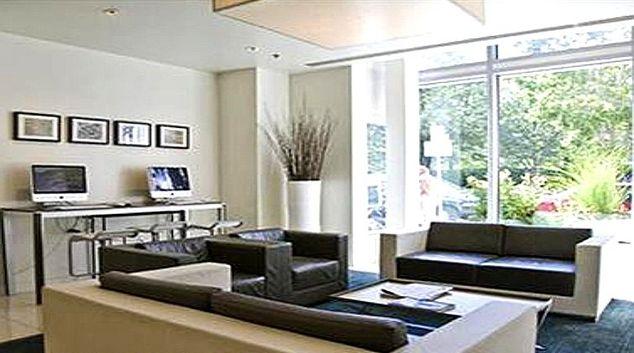 Bold living area in Watermark Cambridge Apartments