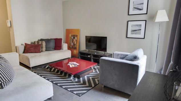 Living room at Toncqueville Apartment, Batignolles, Paris